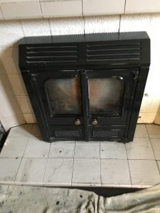 Vintage inset stove