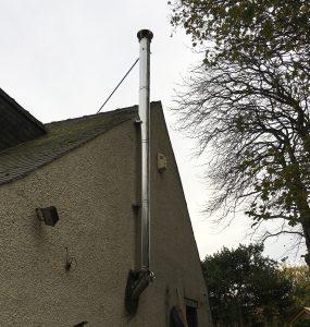 Flue chimney