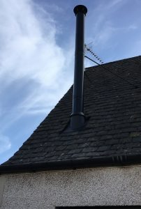 Black flue chimney