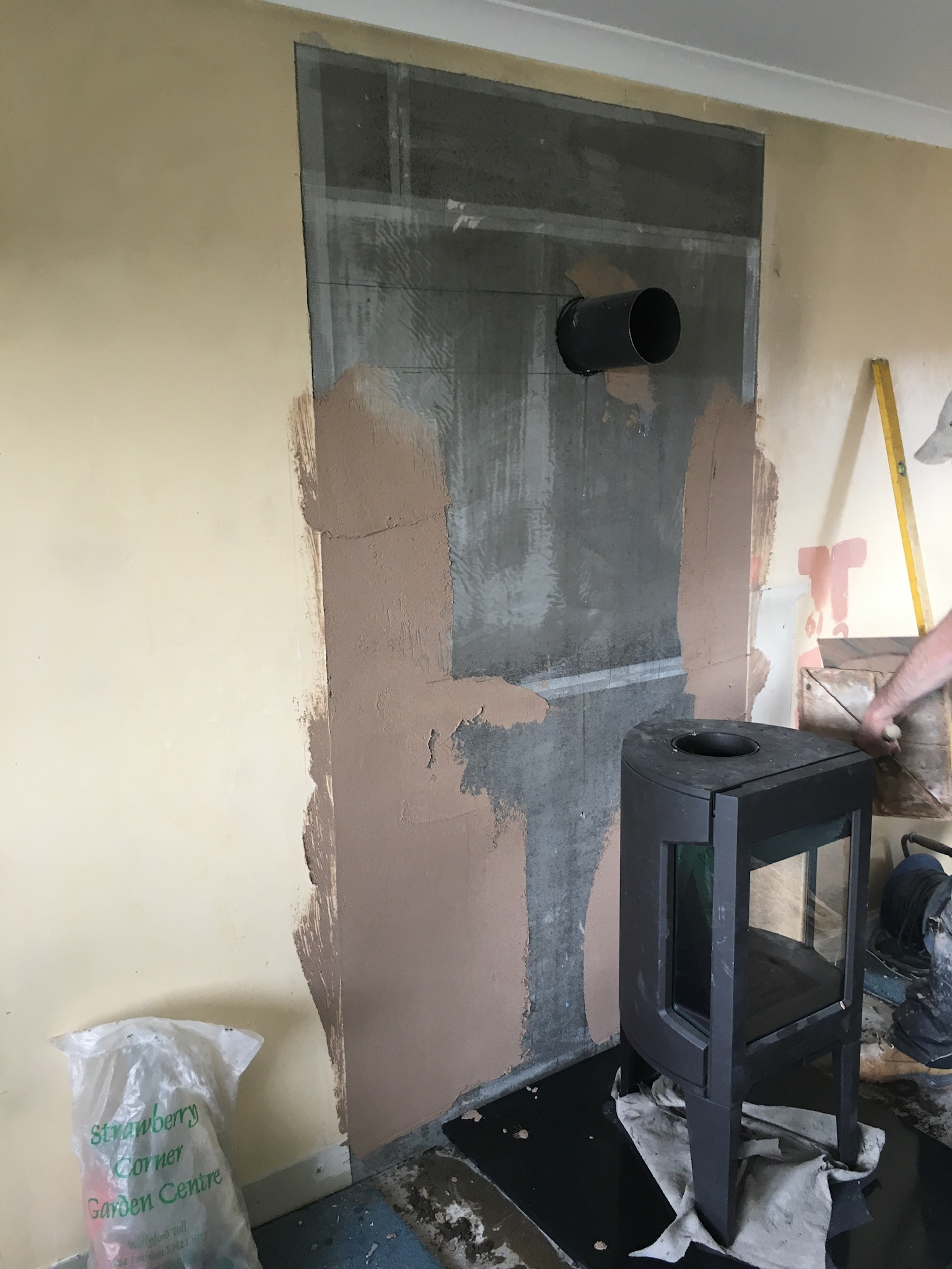 Installation of freestanding stove
