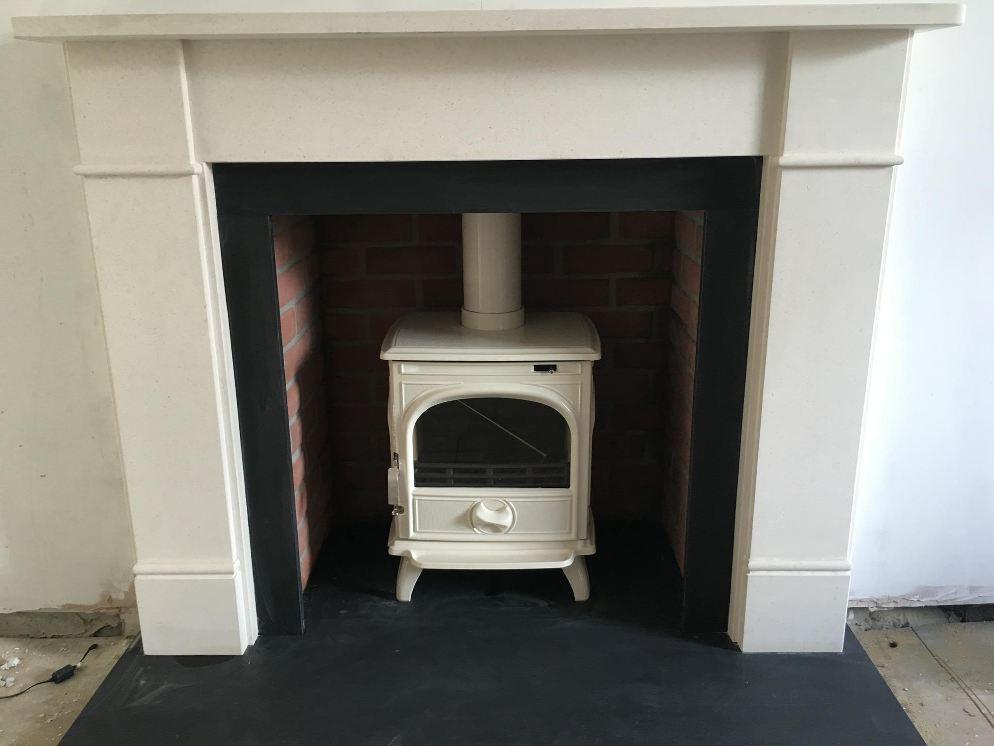 White stove